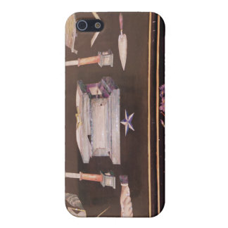 Small wooden case, with symbols of Freemasonry Case For The iPhone 5