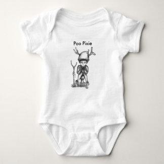 'Small World' Poo Pixie Warrior baby grow Tshirts