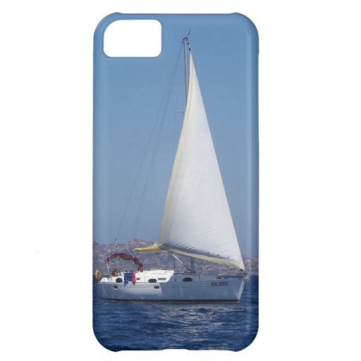 Small Yacht Under Genoa iPhone 5C Covers