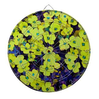 Small Yellow Flowers Dartboard