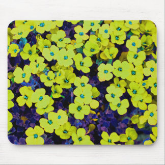 Small Yellow Flowers Mouse Pad
