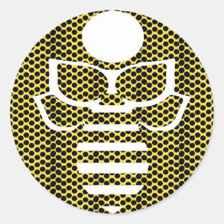 Small Yellow Polka Dot Bee Classic Round Sticker
