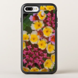 Small Yellow Tropical Flowers With Pink Buds OtterBox Symmetry iPhone 7 Plus Case