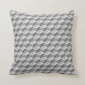 Small Z Cube Isometric Reversible Throw Pillow
