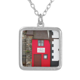Smallest house in Great Britain Silver Plated Necklace