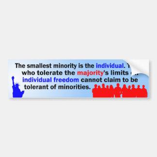 Smallest Minority Bumper Sticker