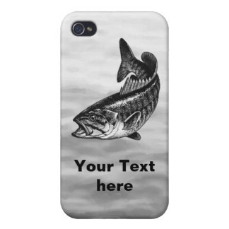 Smallmouth Bass Fishing graphic iPhone 4/4S Case