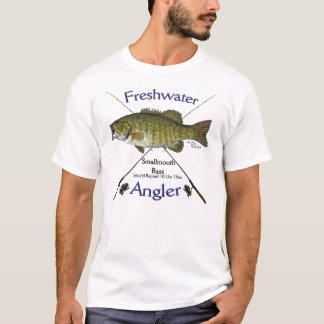 Smallmouth Bass Freshwater angler fishing Tshirt. T-Shirt