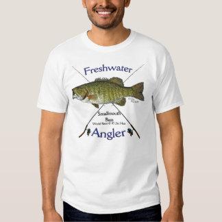 Smallmouth Bass Freshwater angler fishing Tshirt. Tee Shirt