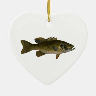Smallmouth Bass Logo Ceramic Ornament