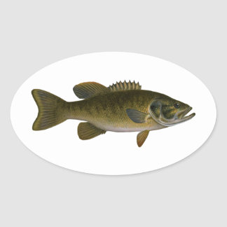 Smallmouth Bass Logo Oval Sticker