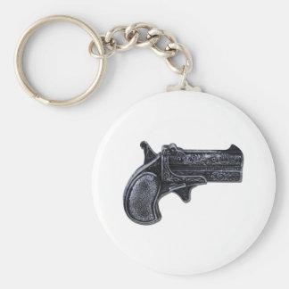 SmallPistol100211 Basic Round Button Keychain