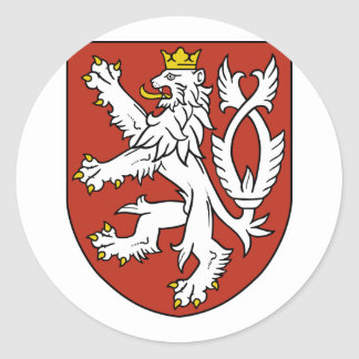 Smallt arms theech Republic, Czech Classic Round Sticker