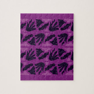 SMARAGD PURPLE  Black Pink Vintage edition Jigsaw Puzzle