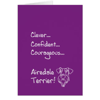 Smart Airedale Terrier Card