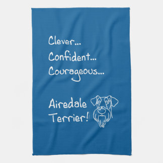 Smart Airedale Terrier Kitchen Towel