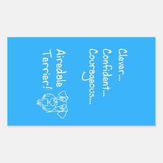 Smart Airedale Terrier Sticker