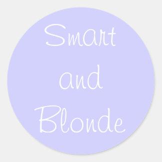 Smart and Blonde Round Sticker