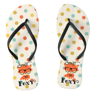 Smart AND Foxy-Dots Flip Flops