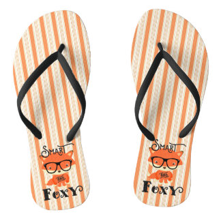 Smart AND Foxy-Stripes Flip Flops