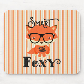 Smart AND Foxy-Stripes Mouse Pad