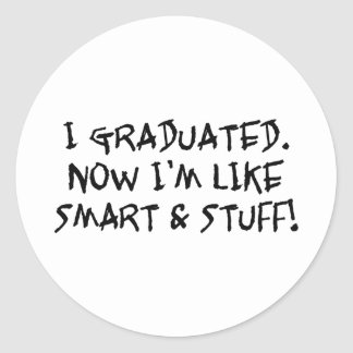 Smart And Stuff Classic Round Sticker