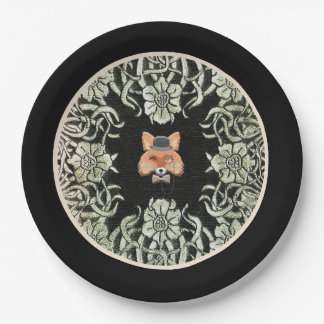 Smart as a Fox Paper Plate in Black