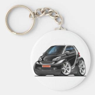 Smart Black Car Basic Round Button Keychain