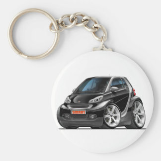 Smart Black Car Keychain