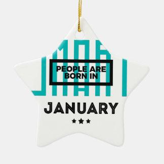 Smart Born In January Babies Birthday Ceramic Ornament