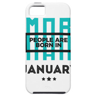 Smart Born In January Babies Birthday iPhone 5 Cover