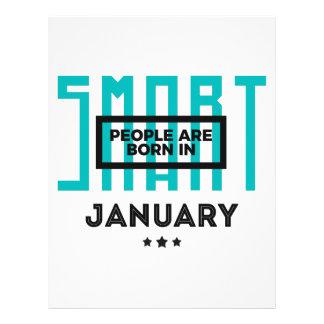 Smart Born In January Babies Birthday Letterhead