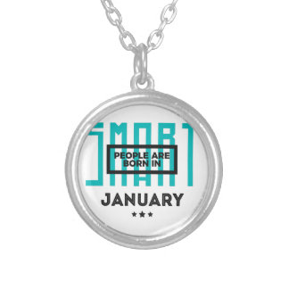 Smart Born In January Babies Birthday Silver Plated Necklace