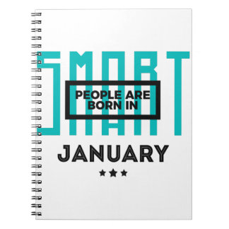 Smart Born In January Babies Birthday Spiral Notebook