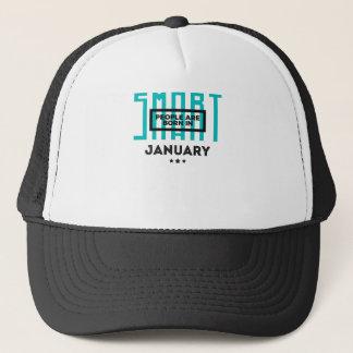 Smart Born In January Babies Birthday Trucker Hat