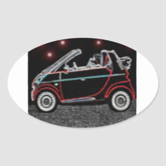 Smart Car Oval Sticker