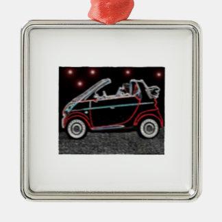 Smart Car Silver-Colored Square Ornament