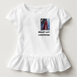 Smart cat-lighthouse toddler t-shirt