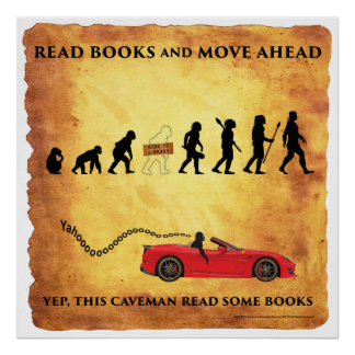 Smart Caveman: Read Books and Move Ahead Poster