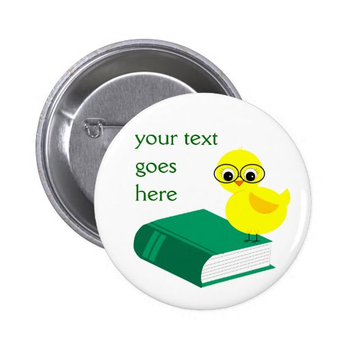 Smart Chick on Book Customizable Text Buttons