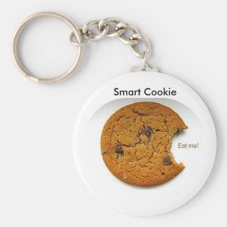 Smart Cookie Basic Round Button Keychain