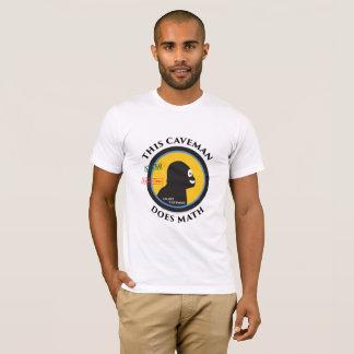 Smart Gear Math Caveman STEM Big Logo T-Shirt