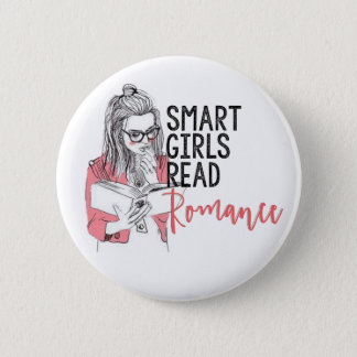 Smart Girls Read Romance Circle Button
