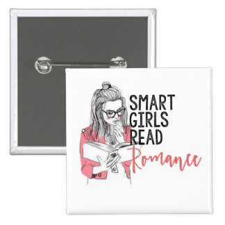 Smart Girls Read Romance Square Button