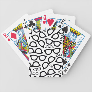 Smart Glasses Pattern Bicycle Playing Cards