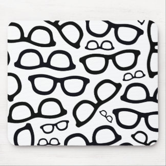 Smart Glasses Pattern Mouse Pad