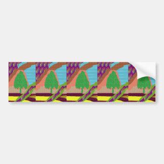 SMART Graphic ART TREE GREEN SCENE lowprice Bumper Stickers