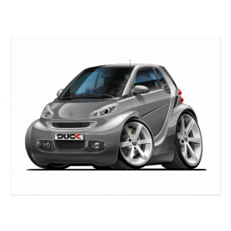 Smart Grey Car Postcard