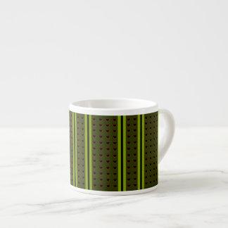 Smart Hearts Stripped Deep Green Expresso Mug