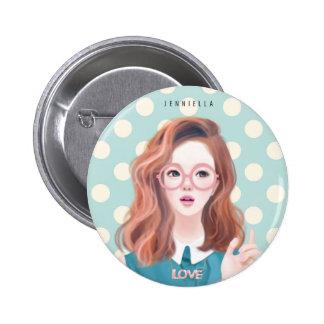 Smart Jennie 2¼ Inch Round Button